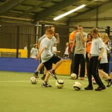 Straatvoetbal clinic